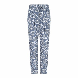 Weird Fish Tinto Patterned Harem Trousers Light Denim Size 10