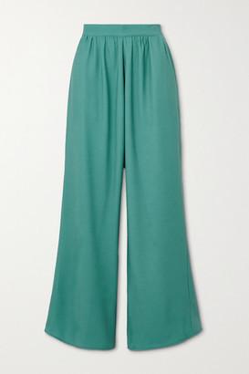Miaou Net Sustain Arielle Crepe Wide-leg Pants