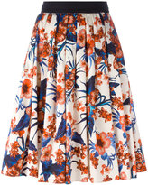 Fausto Puglisi flared floral skirt