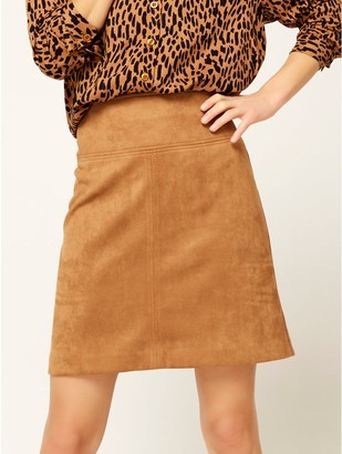 M&Co Faux suede a-line skirt