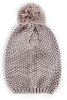 Sole Society Waffle Knit Beanie w/ Pom