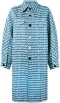 Faustine Steinmetz - logo printed denim overcoat - women - Cotton/Polyester - S