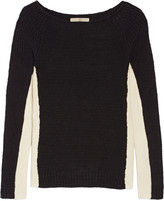 Halston Two-tone wool-blend sweater