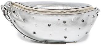 Rebecca Minkoff Crystal Embellished Leather Sling Bag
