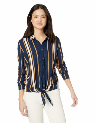 Roxy Junior's Suburb Vibes Tie Front Button Up Top