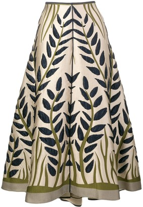 Fendi Floral Jacquard Skirt