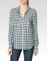 Paige Mya Shirt - Trooper/Midnight Navy Windsor Plaid