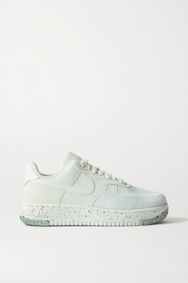 Nike Air Force 1 Crater Faux Leather And Mesh Sneakers - White