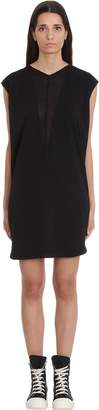 Drkshdw Dbl V Tunic Dress In Black Cotton