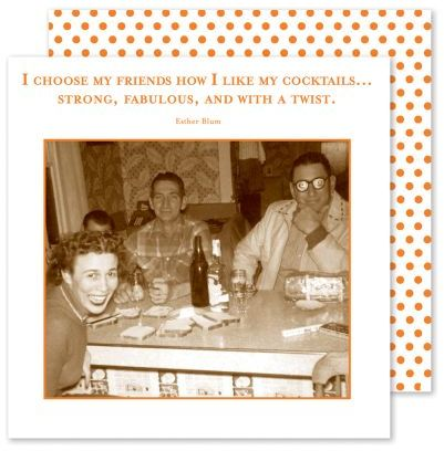 """Shannon Martin """"Choose My Friends"""" Paper Cocktail Napkins"""