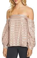 1 STATE 1.state Metallic Striped Off-the-Shoulder Top