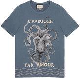Gucci Cotton t-shirt with appliqués - men - Cotton - S