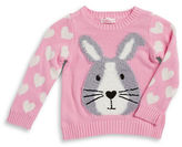 Design History Girls 2-6x Sequined Bunny Sweater