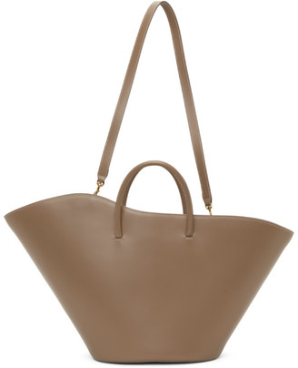 Little Liffner Taupe Large Open Tulip Tote