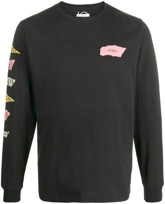 Saturdays NYC long sleeve torn paper sweater