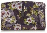 Rochas Floral sequin-embellished clutch
