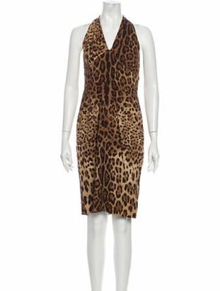 Dolce & Gabbana Silk Knee-Length Dress