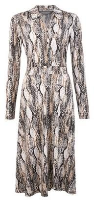 Dorothy Perkins Womens Tall Grey Snake Midi Shirt Dress, Grey