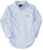 Ralph Lauren Check Poplin Dress Shirt, Size 4-7