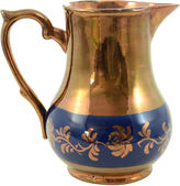 One Kings Lane Vintage 1890s English Copper Lusterware Pitcher