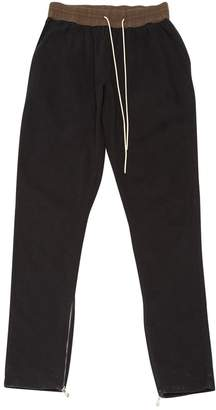 Fear Of God Black Polyester Trousers
