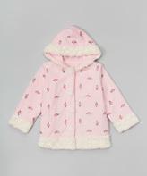 Paperdoll Pink Floral Fleece Hooded Coat - Toddler & Girls