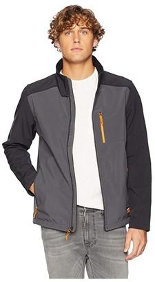 Timberland Modern Power Slim Fit Zip Windproof Softshell Jacket (Pewter) Men's Coat