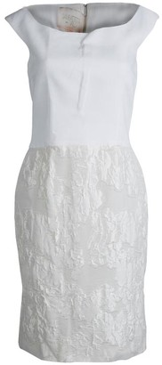 Giambattista Valli Off White Sleeveless Dress XS