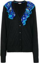 Emilio Pucci ruched scarf embellished cardigan
