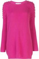 Mason by Michelle Mason pearl embellished jumper dress