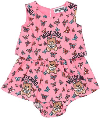Moschino Cotton Poplin Dress & Diaper
