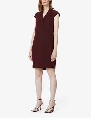 Whistles Tuxedo crepe mini dress