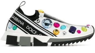 Dolce & Gabbana Embellished Slip-On Sneakers