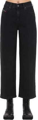 Diesel High Rise Wide Leg Stretch Denim Jeans