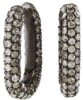 Selim Mouzannar Grey Diamond Link Earrings