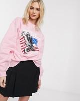 Daisy Street oversized sweatshirt with american dreamer print