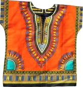 Raan Pah Muang RaanPahMuang Unisex Bright Africa Colour Children Dashiki Cotton Shirt