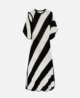 Stella McCartney striped knit midi dress
