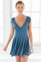 Kimchi & Blue Kimchi Blue Sand Dollar Ribbed Knit T-Shirt Dress
