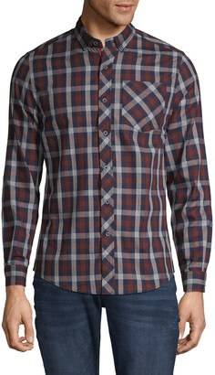 Report Collection Heritage Plaid-Print Long-Sleeve Shirt