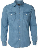 Jack and Jones Men's Originals New One Long Sleeve Denim Shirt - Light Blue