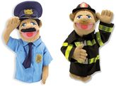 Melissa & Doug Policeman and Firefighter Hand Puppets