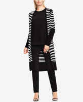 Vince Camuto Striped Open-Front Cardigan