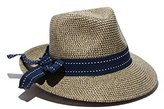 Physician Endorsed Women's Rich Pitch Fedora Packable Sun Hat with Ribbon Rated