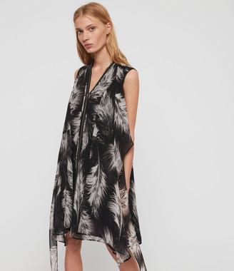 AllSaints Jayda Feathers Dress