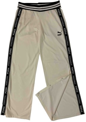 Puma White Trousers for Women