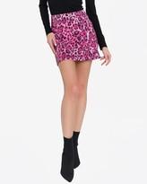 Express Endless Rose Leopard Print Sequin Mini Skirt