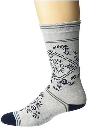 Stance Bandero (Grey) Men's Crew Cut Socks Shoes