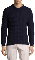 Gant Button Shoulder Crewneck Sweater