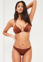 Missguided Mix And Match Regular Hipster Bikini Bottoms Brown